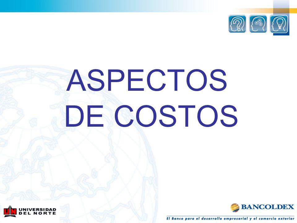 ASPECTOS DE COSTOS
