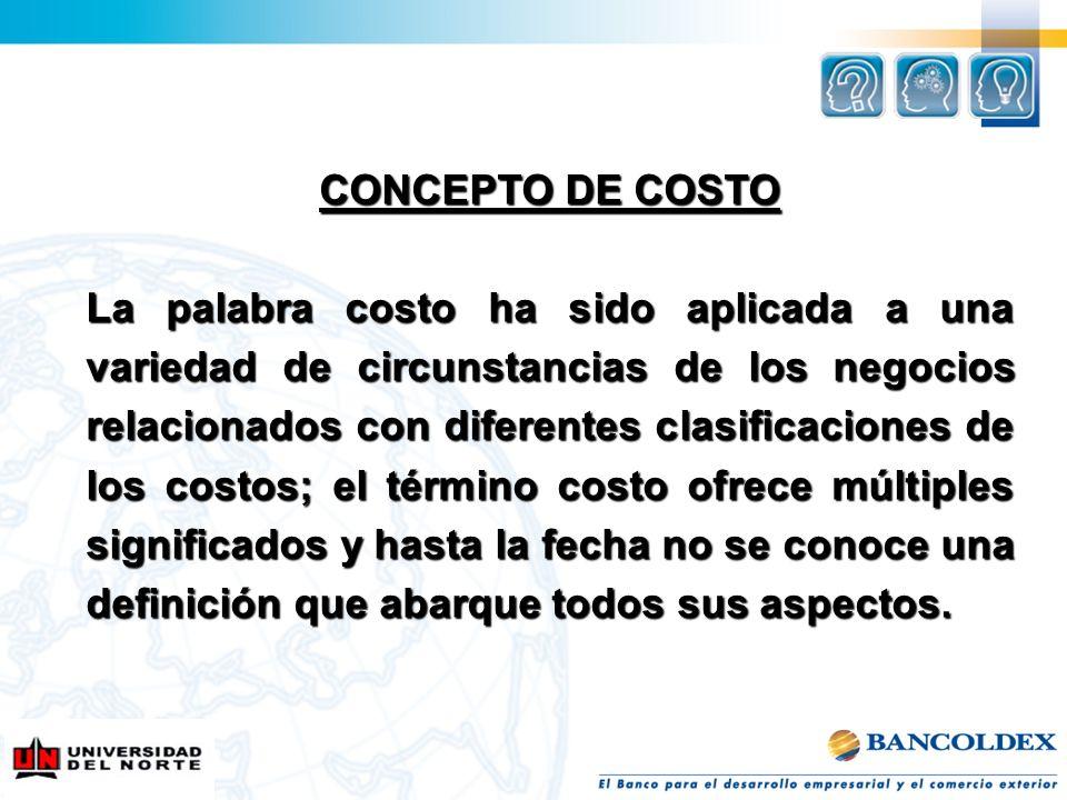 CONCEPTO DE COSTO