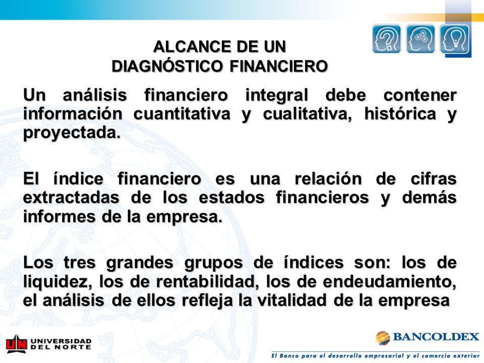 ALCANCE DE UN DIAGNÓSTICO FINANCIERO
