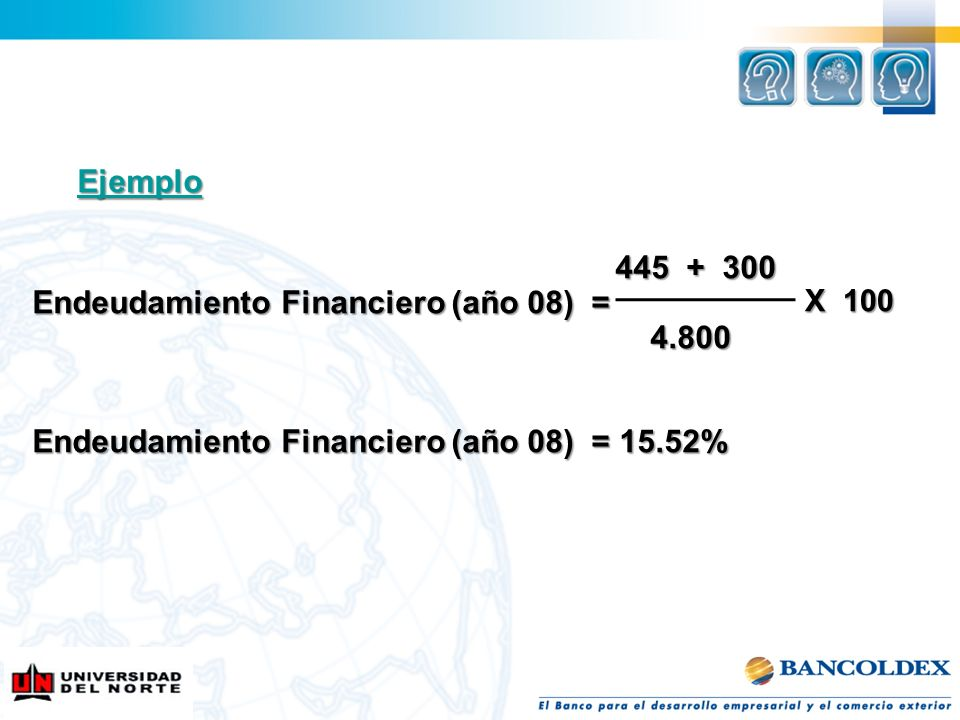Endeudamiento Financiero (año 08) = 4.800
