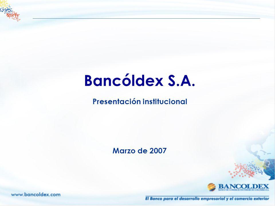 Bancóldex S.A. Presentación institucional