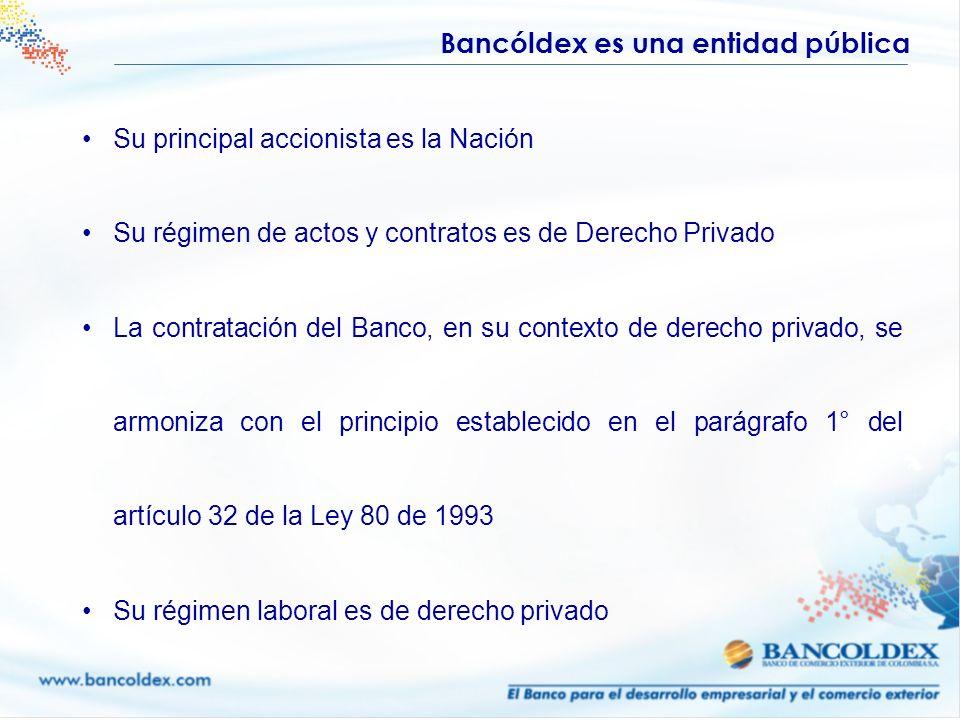 Bancóldex es una entidad pública