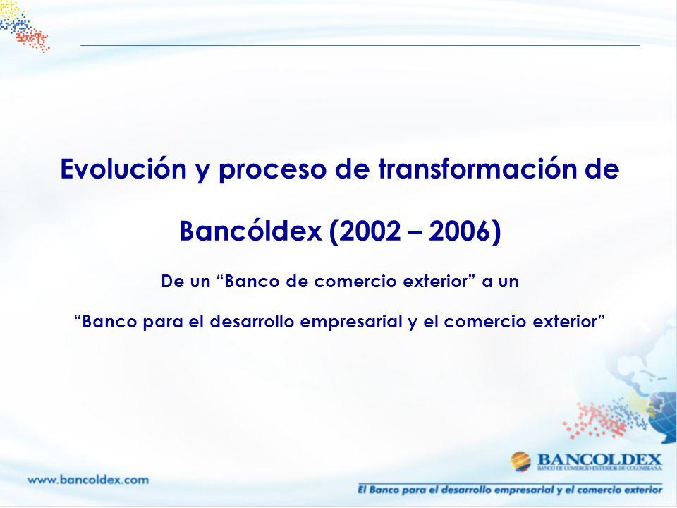 Evolución y proceso de transformación de Bancóldex (2002 – 2006)