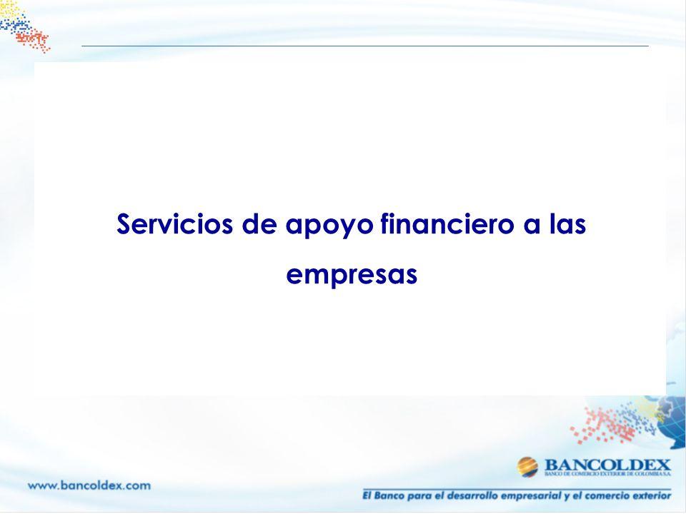 Servicios de apoyo financiero a las empresas