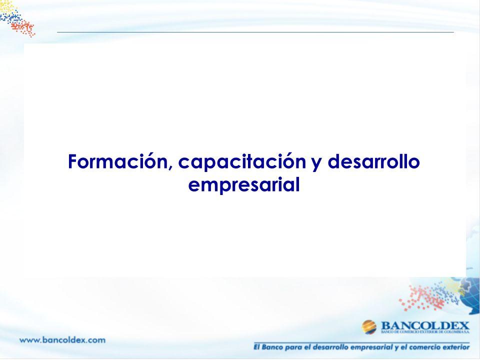 Formación, capacitación y desarrollo empresarial