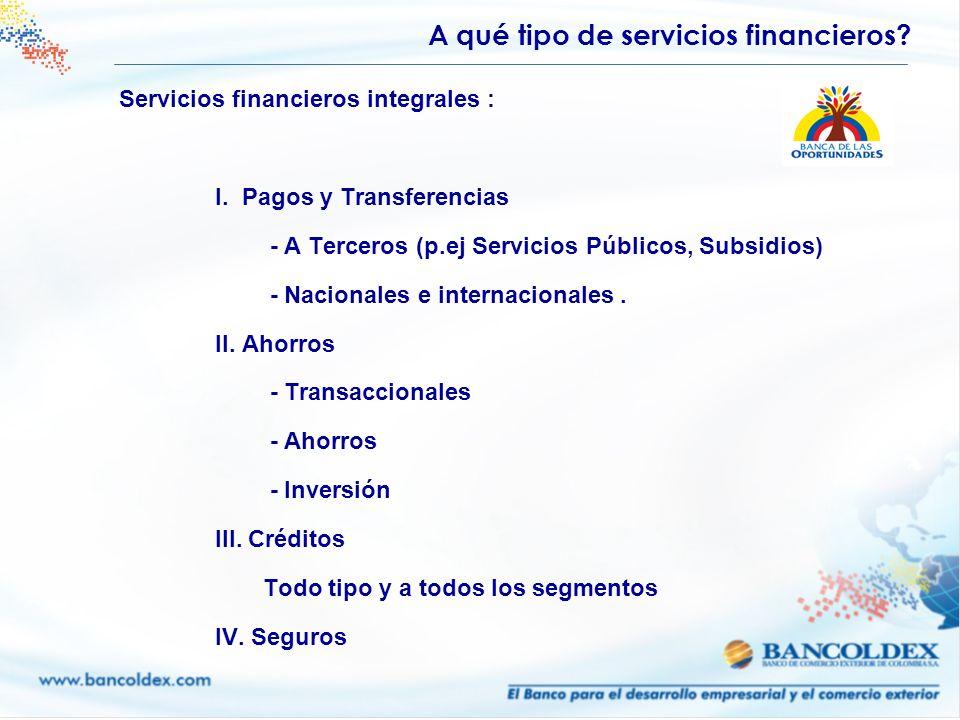 A qué tipo de servicios financieros