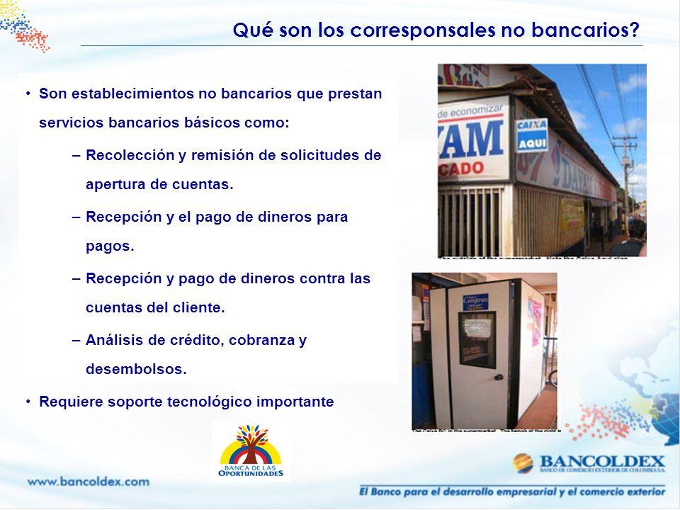 Qué son los corresponsales no bancarios