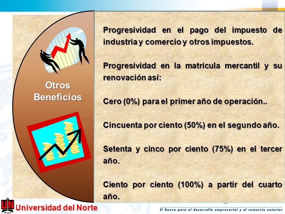 Progresividad en el pago del impuesto de industria y comercio y otros impuestos.