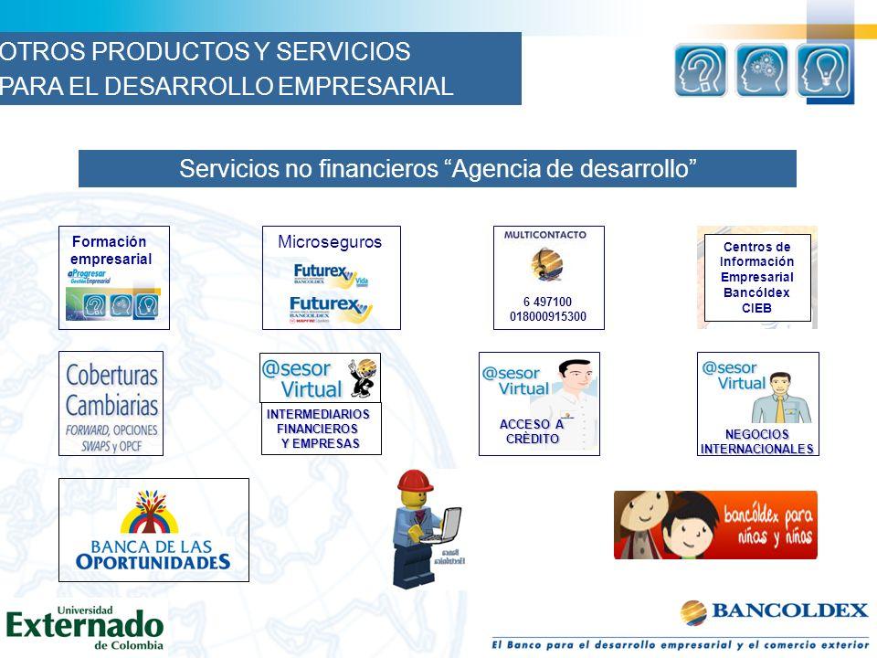 Servicios no financieros Agencia de desarrollo