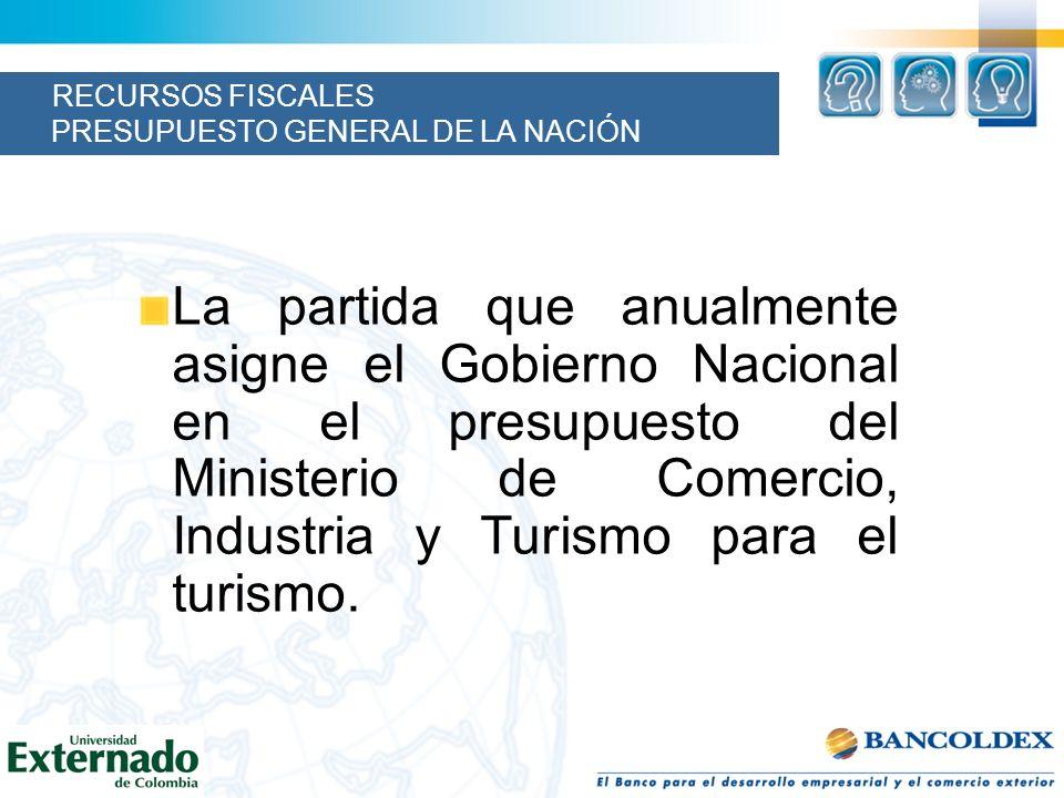 RECURSOS FISCALES PRESUPUESTO GENERAL DE LA NACIÓN
