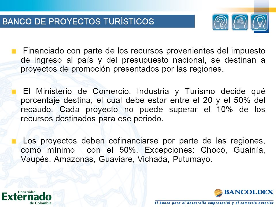 BANCO DE PROYECTOS TURÍSTICOS