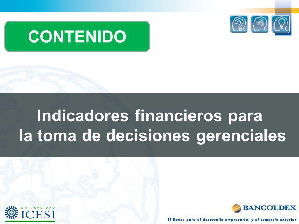 Indicadores financieros para la toma de decisiones gerenciales