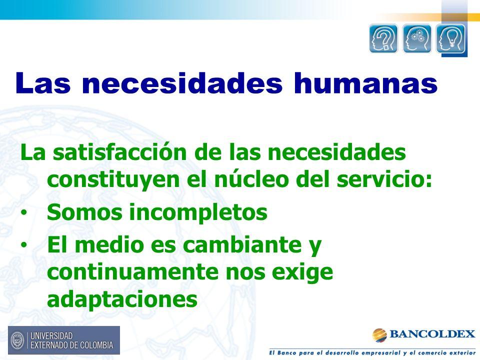 Las necesidades humanas