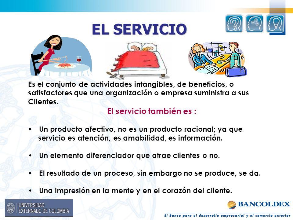 El servicio también es :