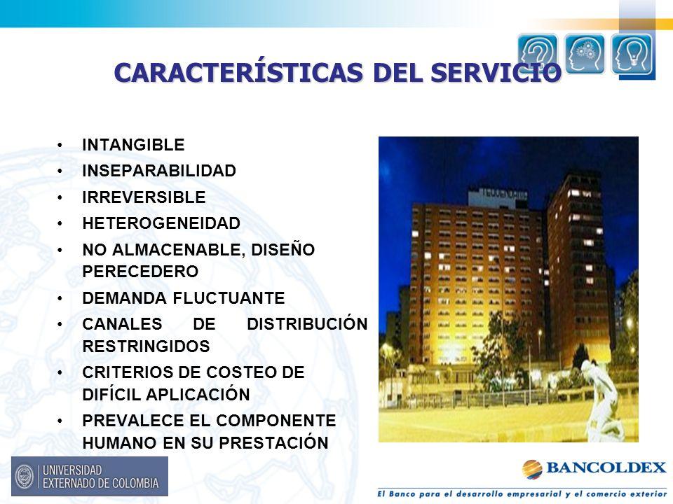 CARACTERÍSTICAS DEL SERVICIO