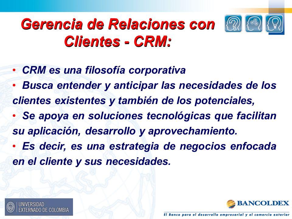 Gerencia de Relaciones con Clientes - CRM:
