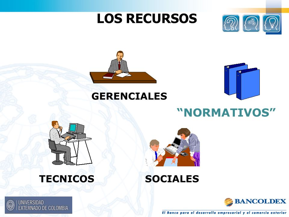 LOS RECURSOS NORMATIVOS GERENCIALES TECNICOS SOCIALES Notas: