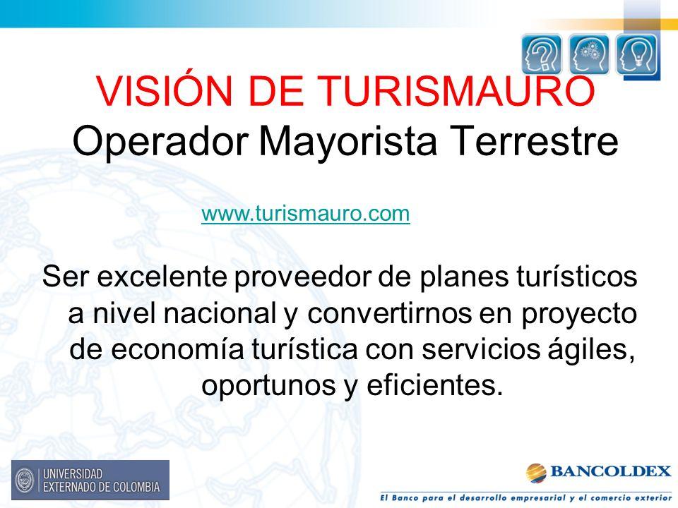 VISIÓN DE TURISMAURO Operador Mayorista Terrestre