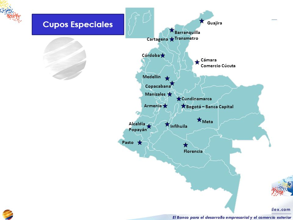 Cupos Especiales Guajira Barranquilla Transmetro Cartagena Córdoba