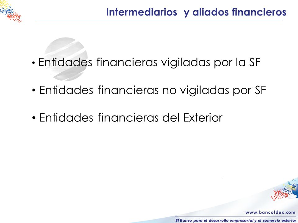 Intermediarios y aliados financieros