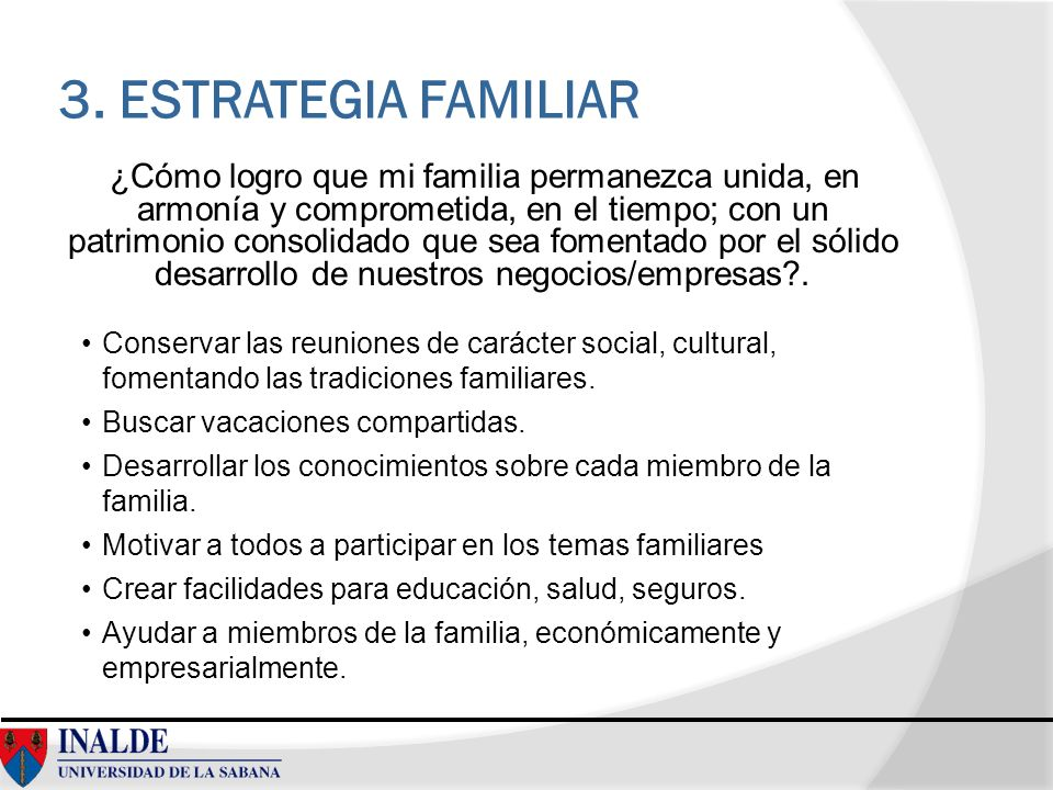 3. ESTRATEGIA FAMILIAR