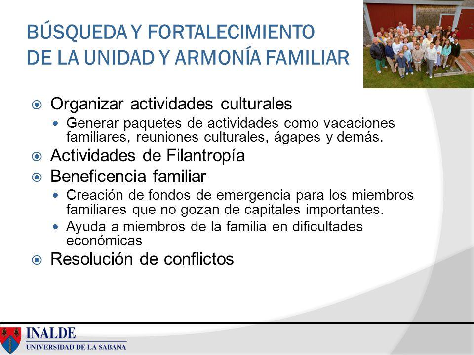 BÚSQUEDA Y FORTALECIMIENTO DE LA UNIDAD Y ARMONÍA FAMILIAR