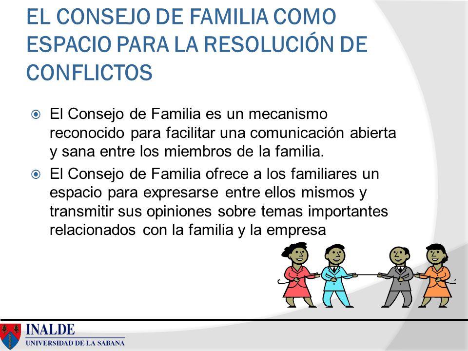 EL CONSEJO DE FAMILIA COMO ESPACIO PARA LA RESOLUCIÓN DE CONFLICTOS