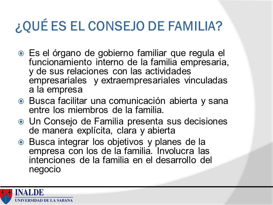 ¿QUÉ ES EL CONSEJO DE FAMILIA