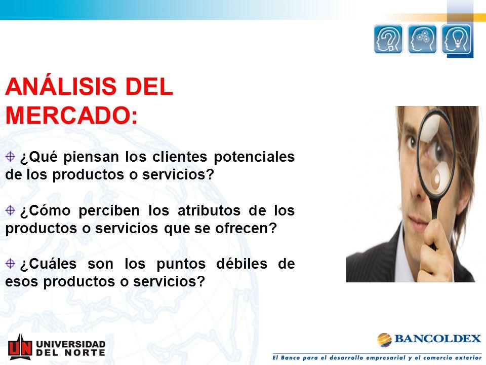 ANÁLISIS DEL MERCADO: ¿Qué piensan los clientes potenciales de los productos o servicios