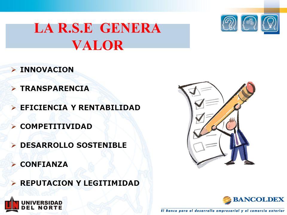 LA R.S.E GENERA VALOR INNOVACION TRANSPARENCIA