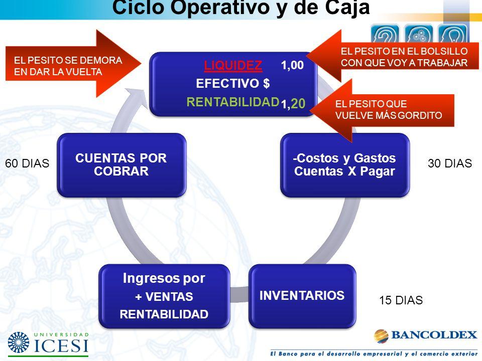 Ciclo Operativo y de Caja