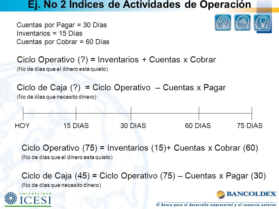 Ej. No 2 Indices de Actividades de Operación
