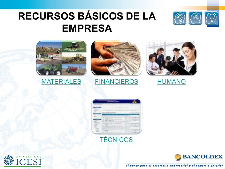 RECURSOS BÁSICOS DE LA EMPRESA