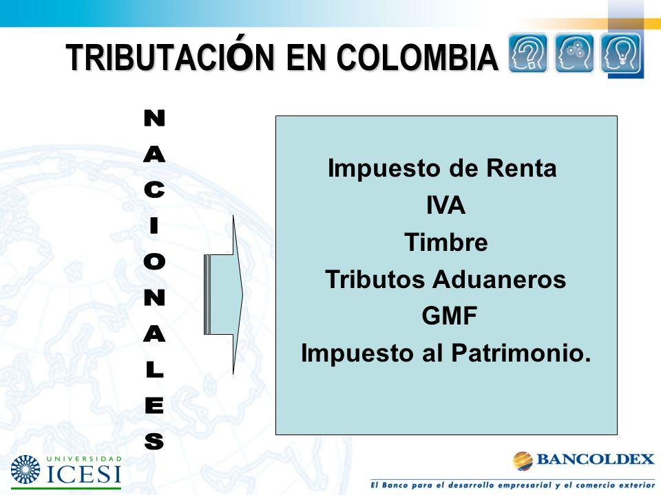TRIBUTACIÓN EN COLOMBIA
