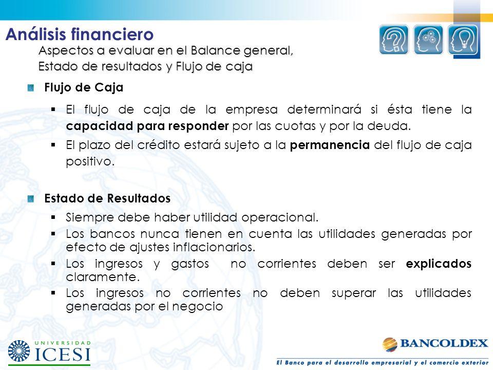 Análisis financiero Aspectos a evaluar en el Balance general,