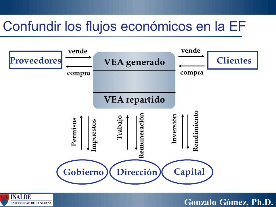 Confundir los flujos económicos en la EF