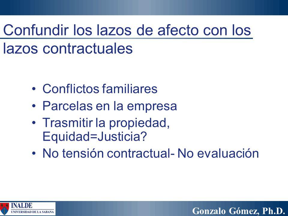Confundir los lazos de afecto con los lazos contractuales