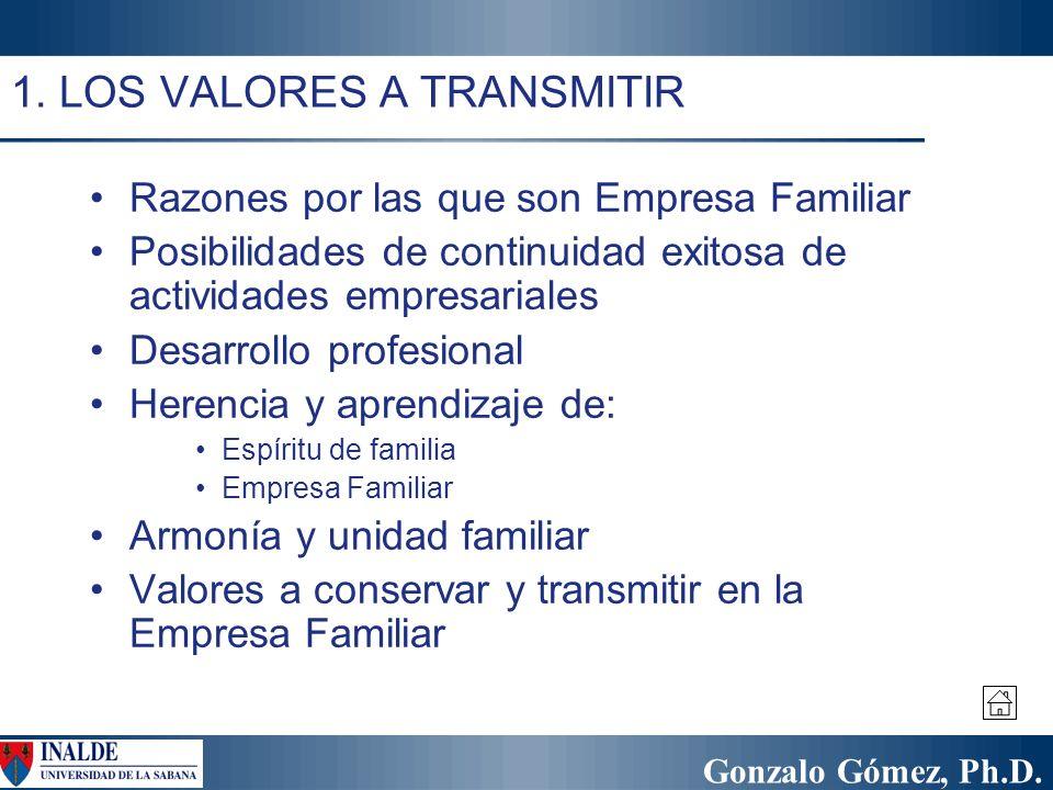 1. LOS VALORES A TRANSMITIR
