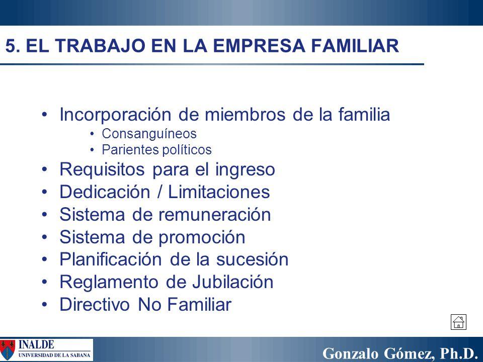 5. EL TRABAJO EN LA EMPRESA FAMILIAR