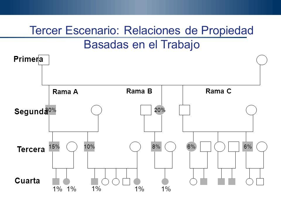 Tercer Escenario: Relaciones de Propiedad Basadas en el Trabajo