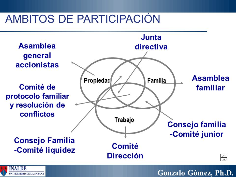 AMBITOS DE PARTICIPACIÓN