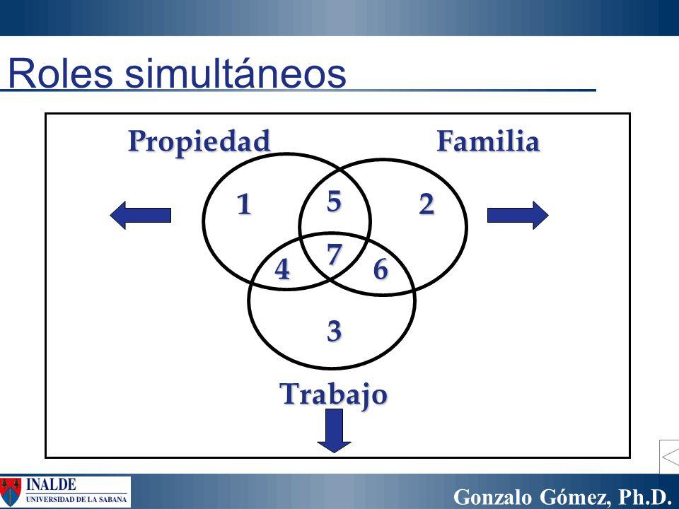 Roles simultáneos Propiedad Familia 1 5 2 7 4 6 3 Trabajo