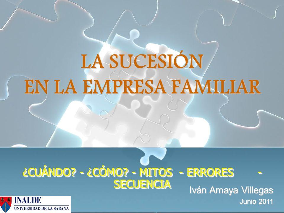 LA SUCESIÓN EN LA EMPRESA FAMILIAR