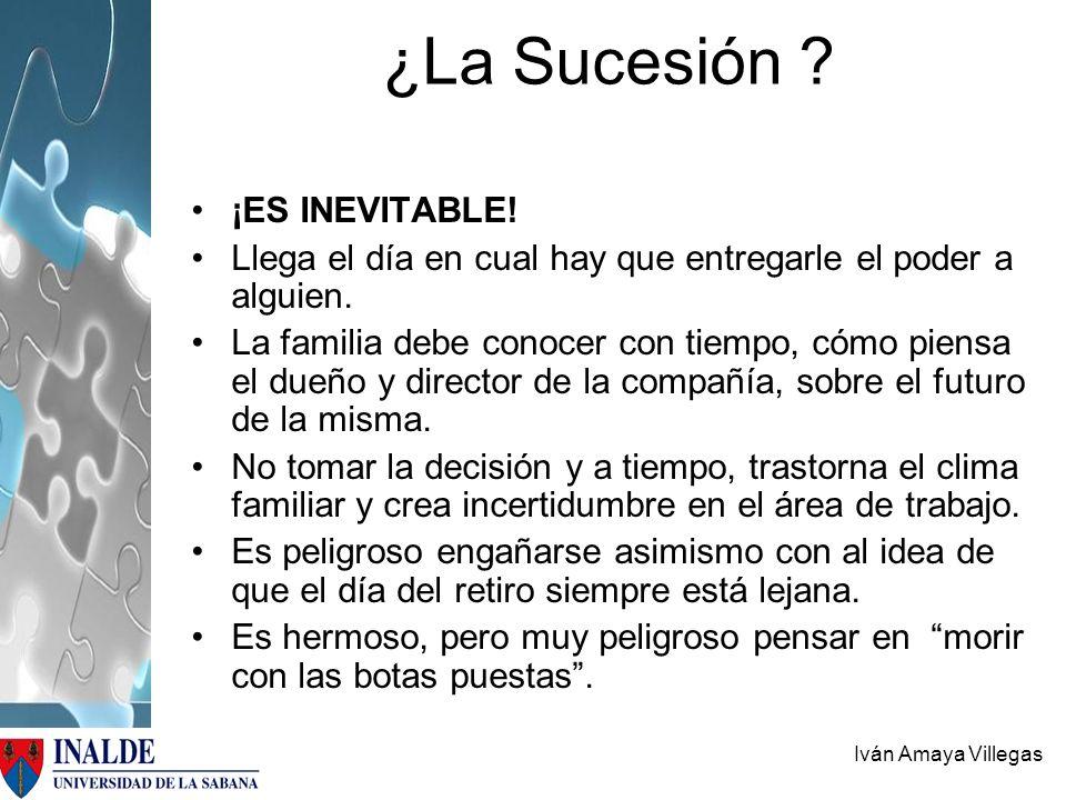 ¿La Sucesión ¡ES INEVITABLE!