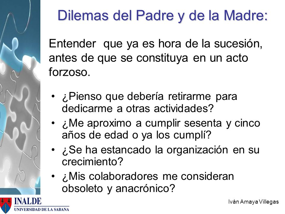 Dilemas del Padre y de la Madre:
