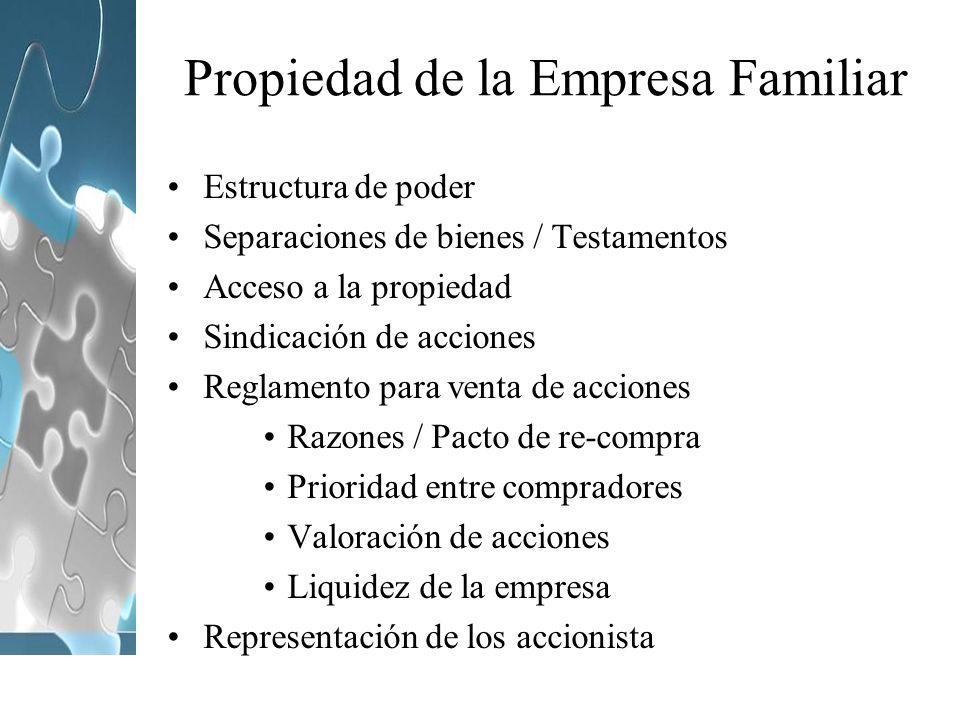 Propiedad de la Empresa Familiar