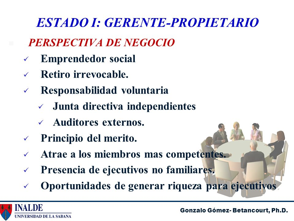 ESTADO I: GERENTE-PROPIETARIO