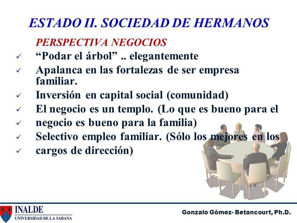 ESTADO II. SOCIEDAD DE HERMANOS