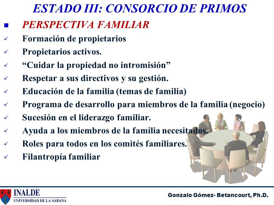 ESTADO III: CONSORCIO DE PRIMOS