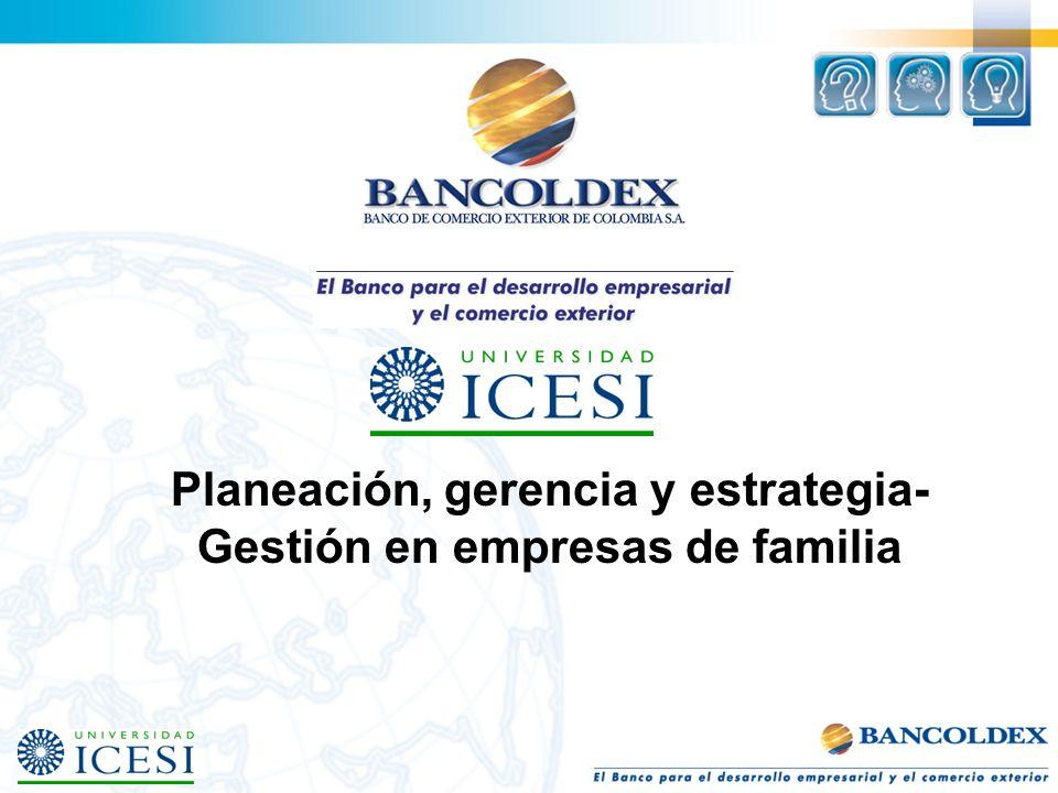 Planeación, gerencia y estrategia-Gestión en empresas de familia